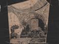 Dibuix capella de l escola  sobre paper vegetal que l any 1941 en Joan Raspall va dedicar a en Manuel Marcobal