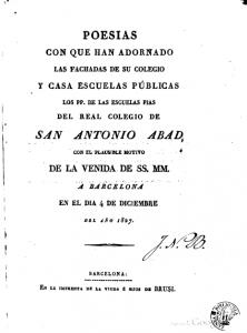 poesias con que han adornado la fachada(1827)